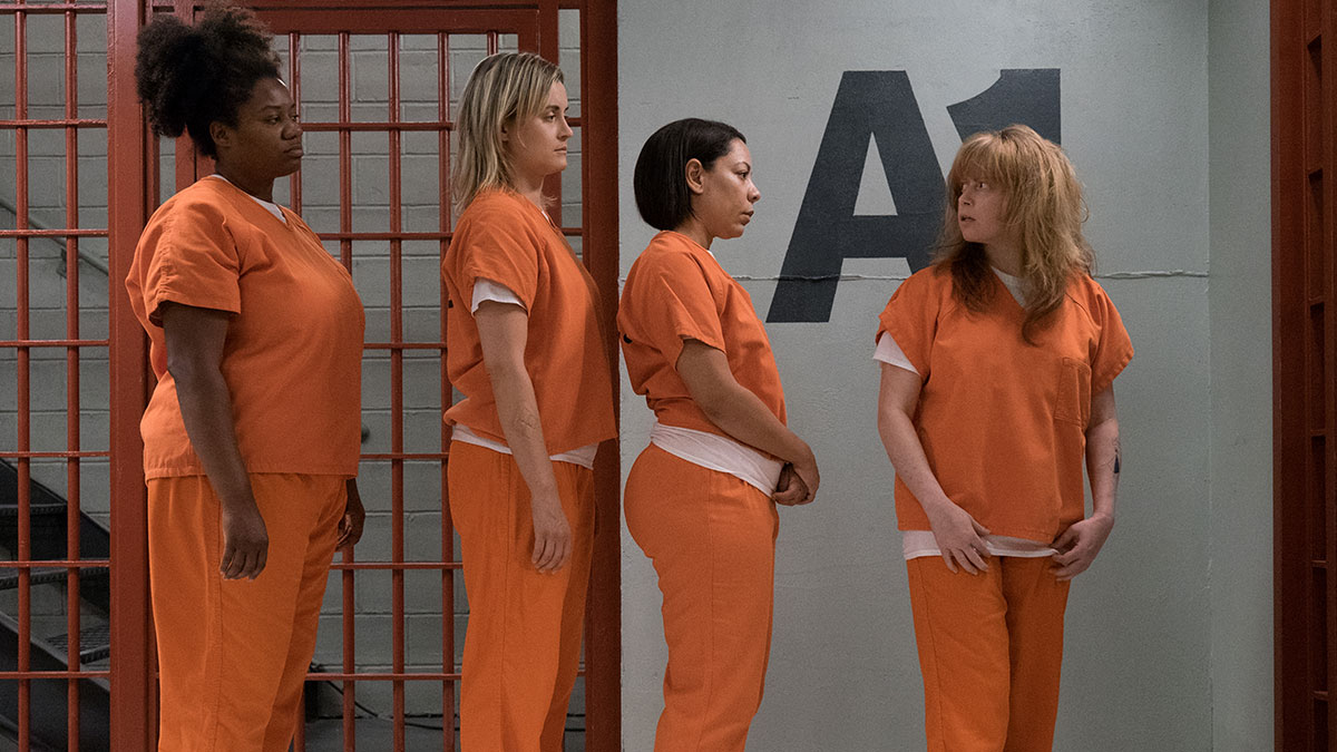 Adrienne Moore, Taylor Schilling, Selenis Leyva and Natasha Lyonne in Orange Is The New Black