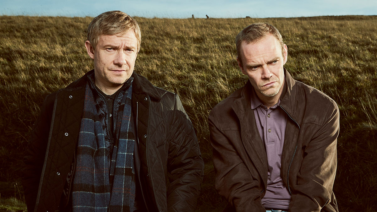 Martin Freeman as Steve Fulcher and Joe Absolom as Christopher Halliwell in A Confession