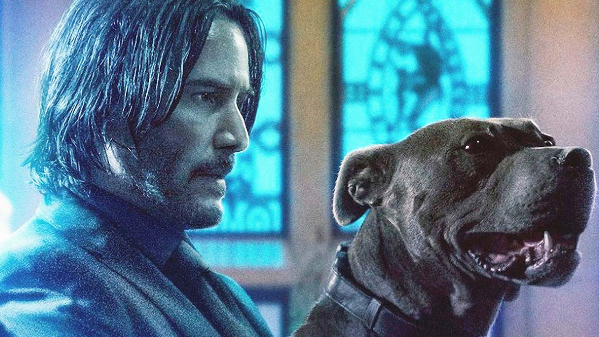 Keanu Reeves and a dog in John Wick: Chapter 3 – Parabellum