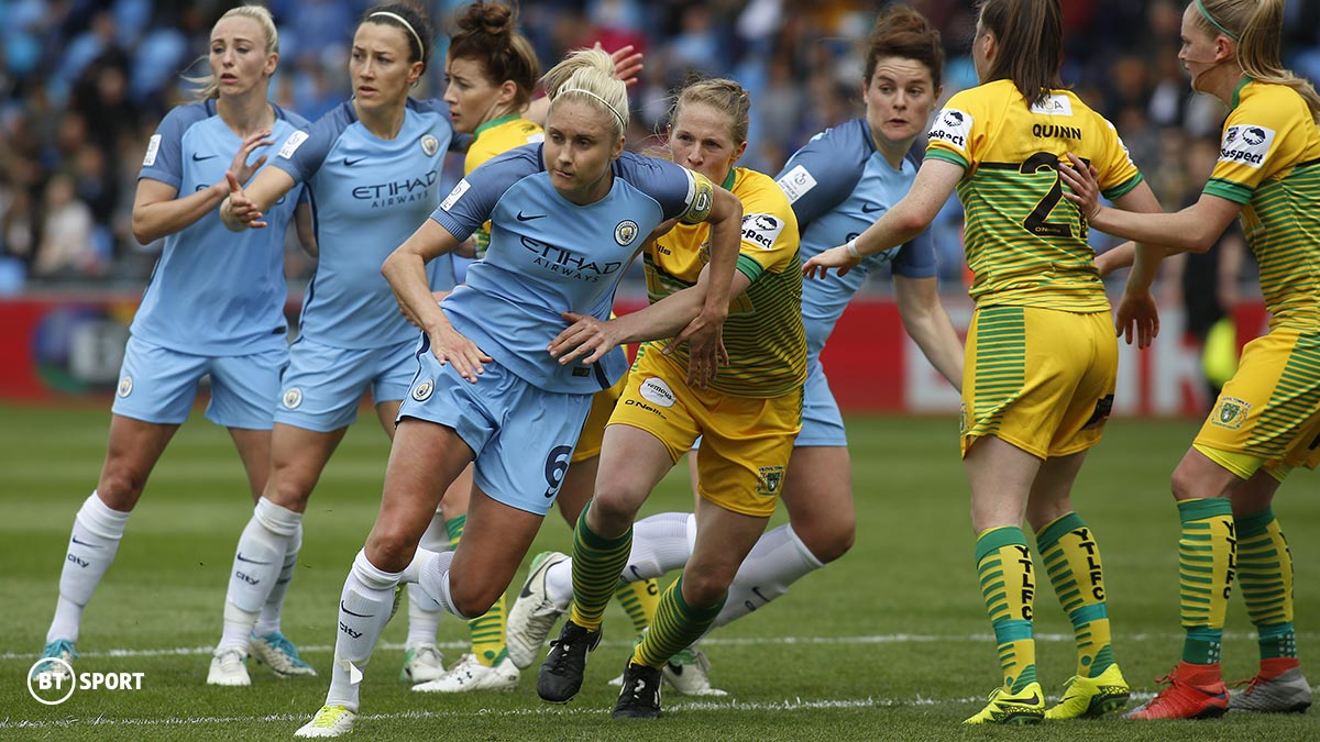 Manchester City player Steph Houghton