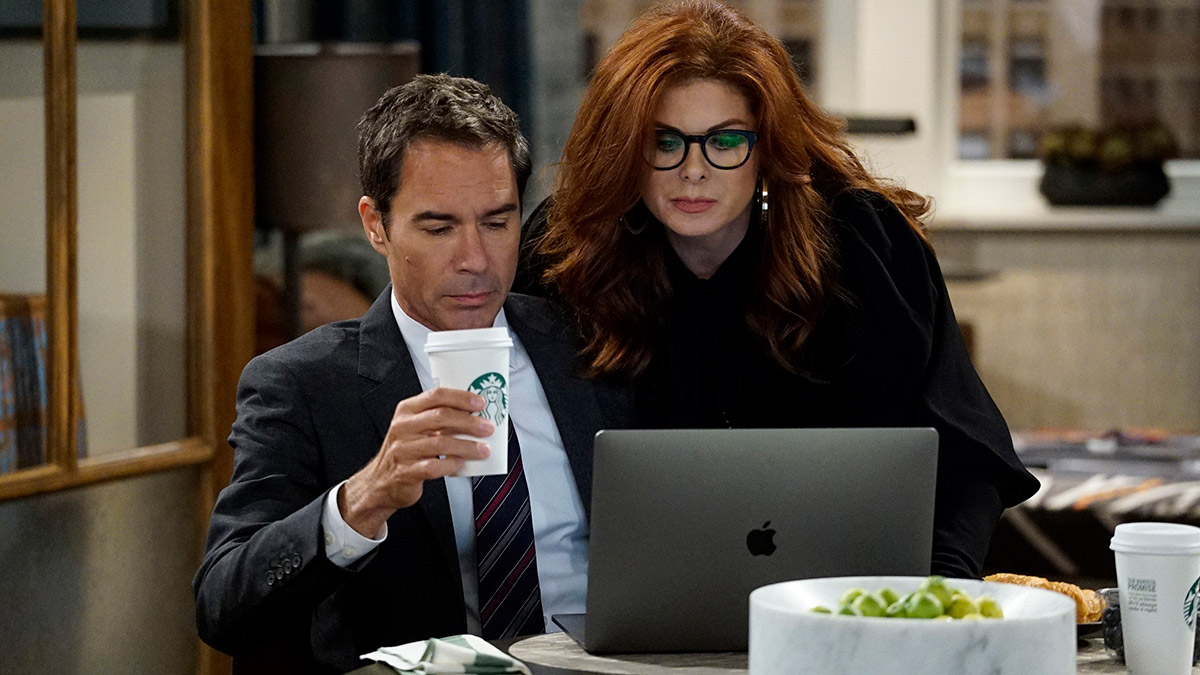 Eric McCormack and Debra Messing in Will & Grace