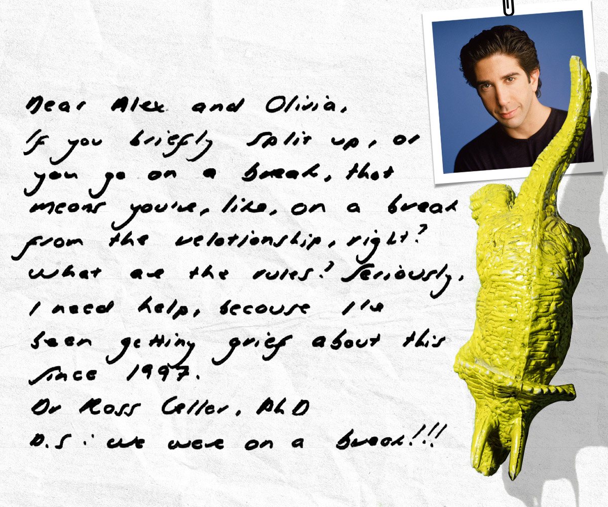 Ross Gellar from Friends letter