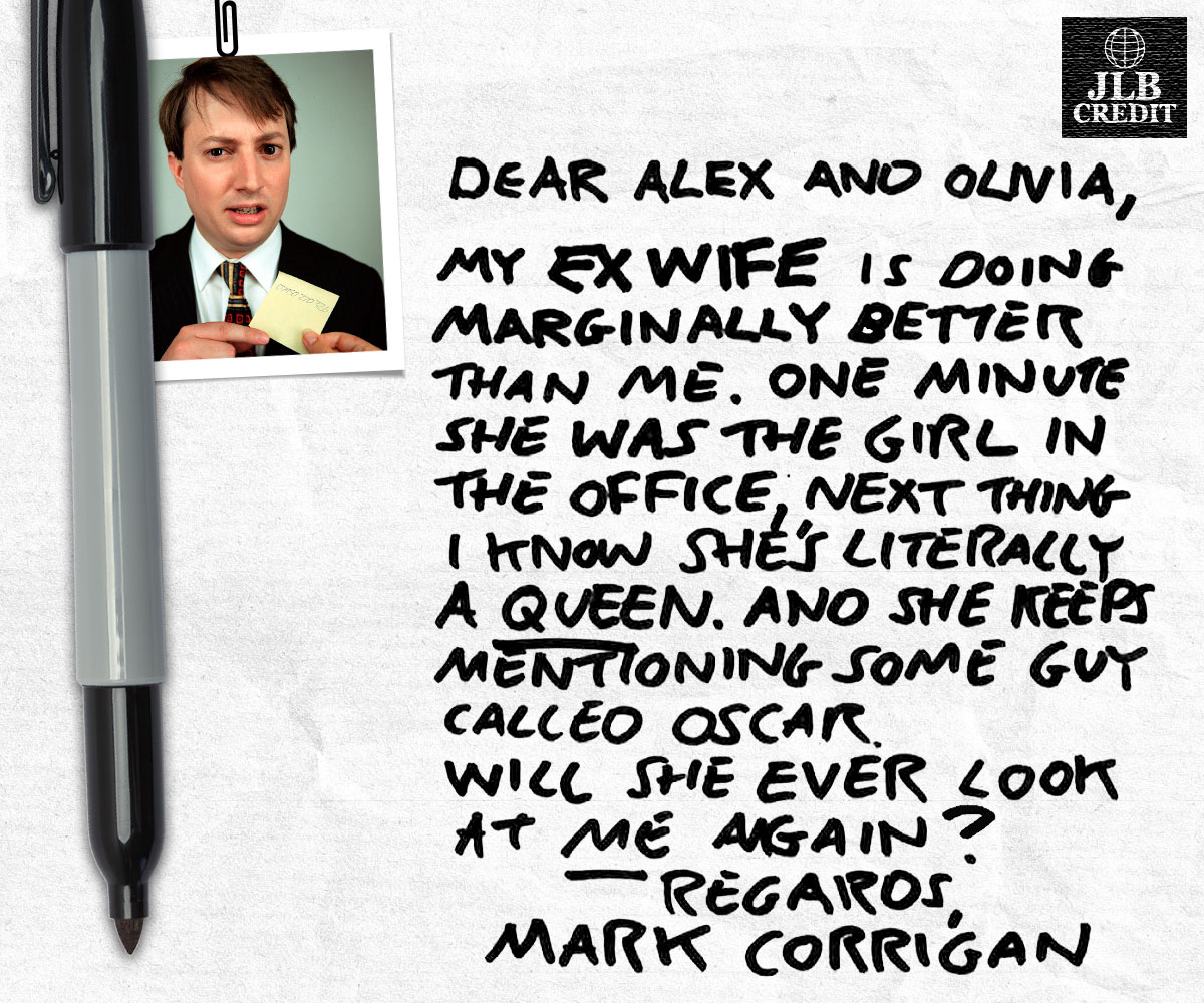 Mark Corrigan from Peep Show letter