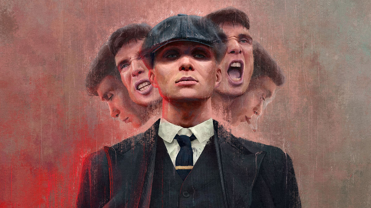 Artwork of Tommy Shelby from Peaky Blinders by Harry Ward