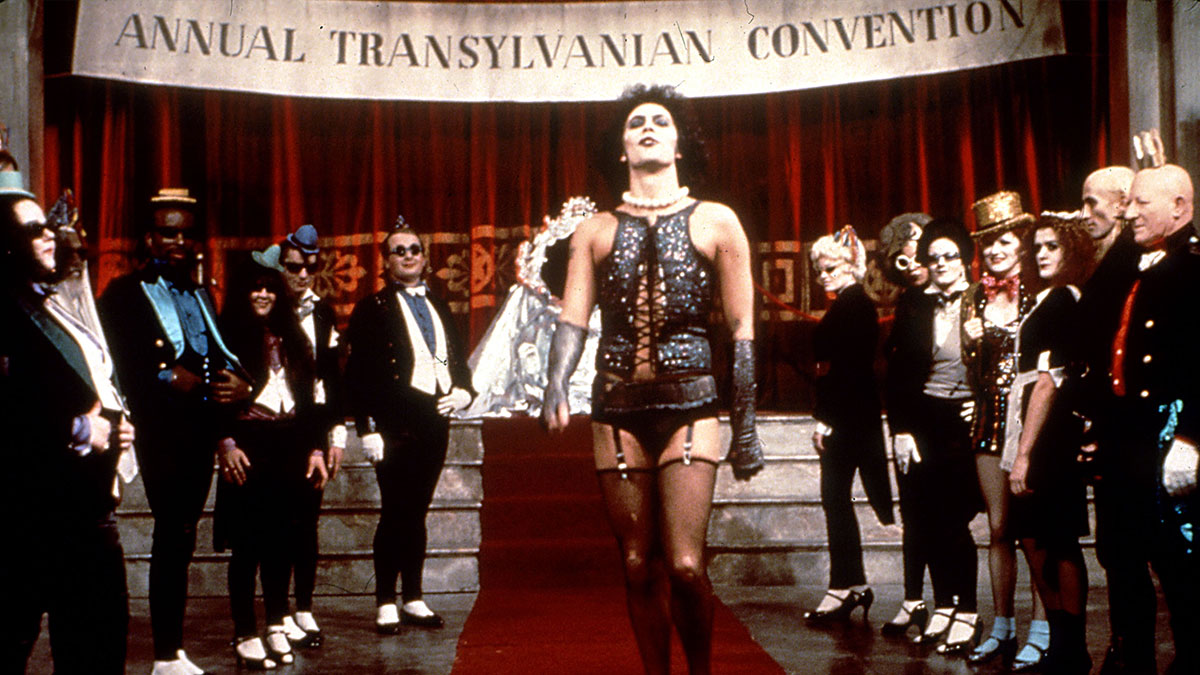 Tim Curry as Dr Frank-N-Furter in The Rocky Horror Picture Show
