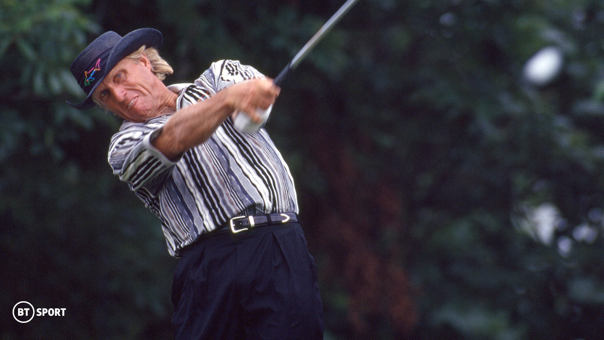 Golfer Greg Norman at the 1996 Masters