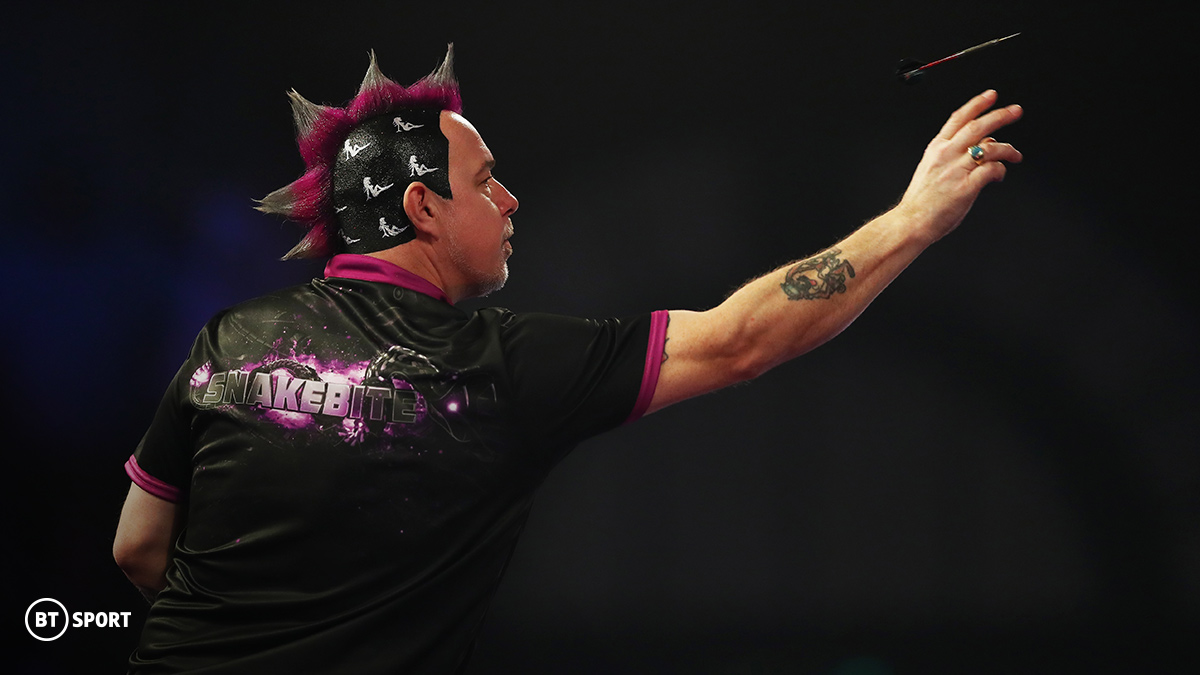 Darts player Peter Wright