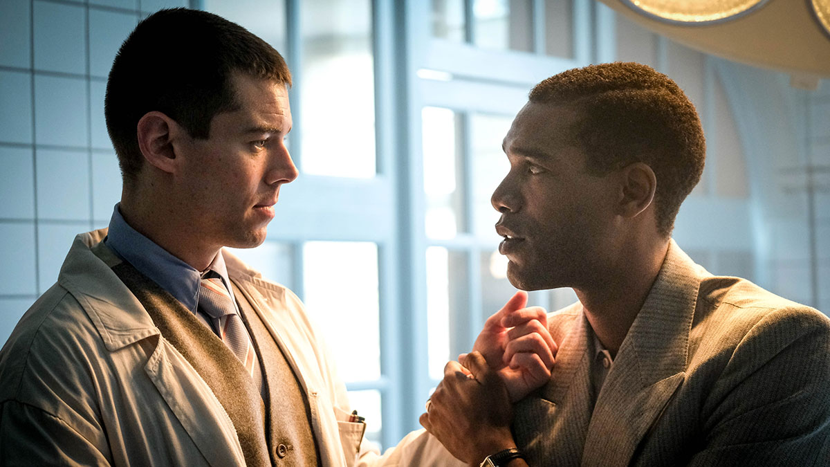 Brian J Smith and Parker Sawyers in World On Fire