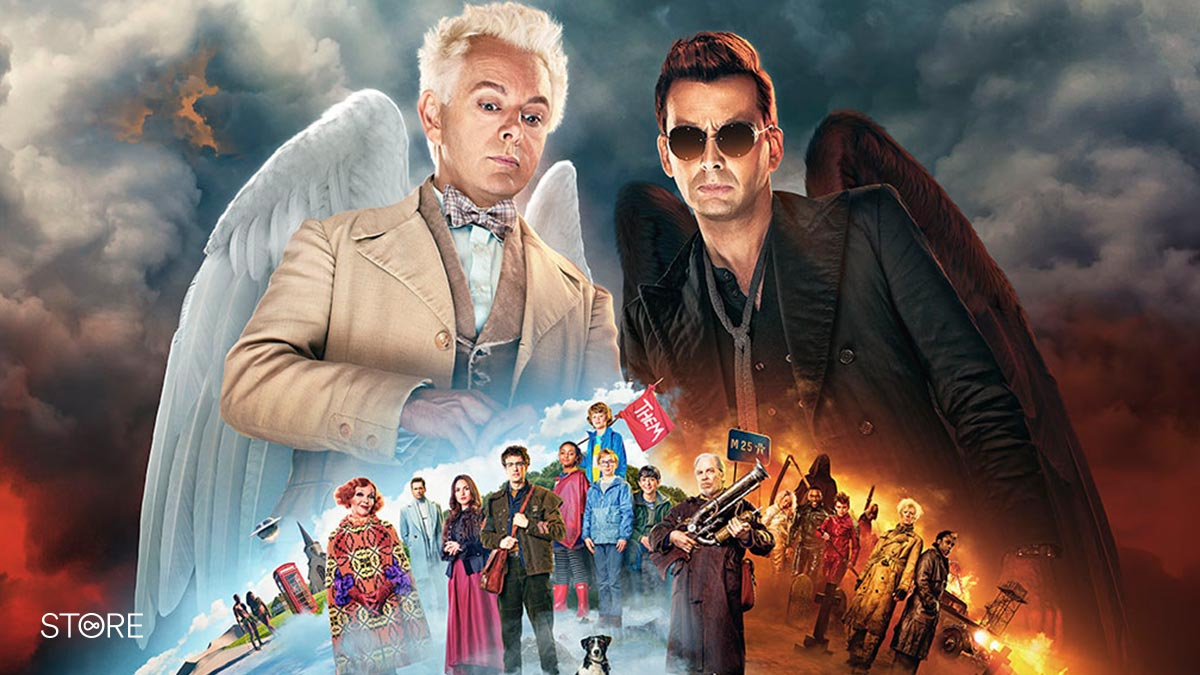 Good Omens starring Michael Sheen and David Tennant
