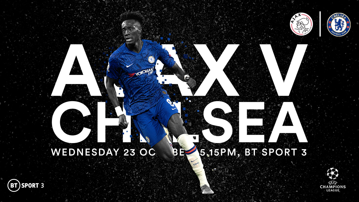 Ajax v Chelsea in the UEFA Champions League on BT Sport