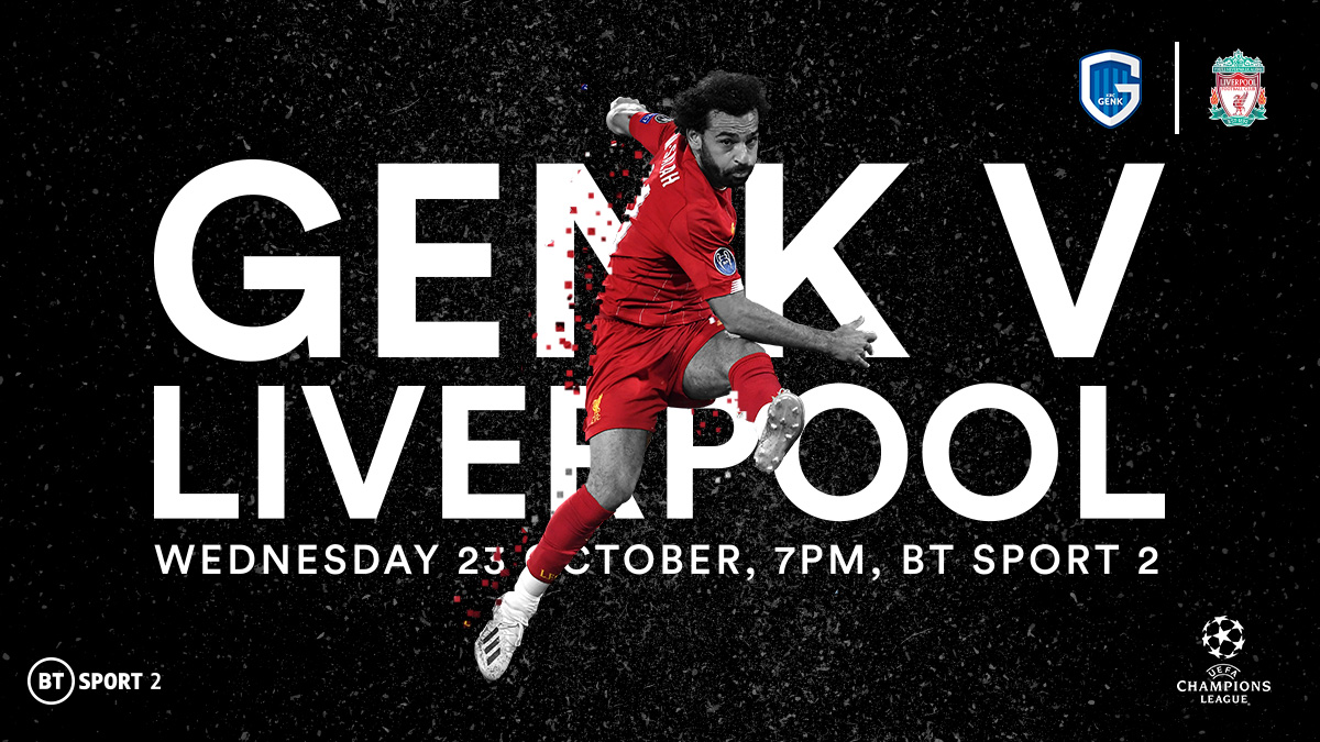 Genk v Liverpool in the UEFA Champions League on BT Sport