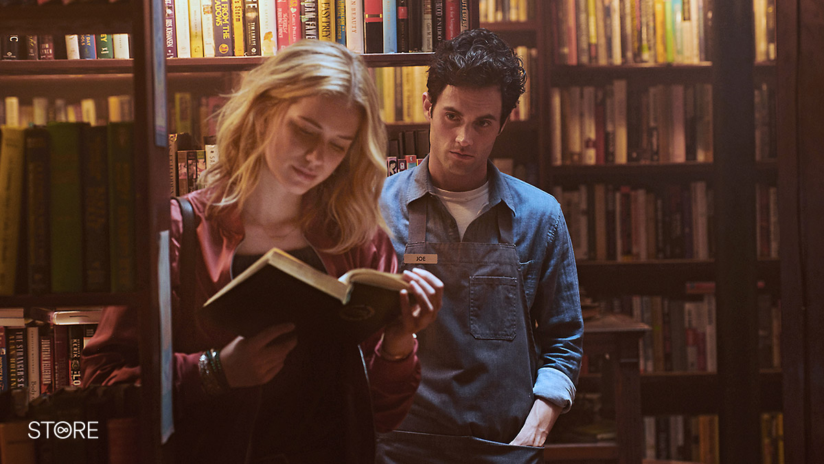 Elizabeth Lail and Penn Badgely in You