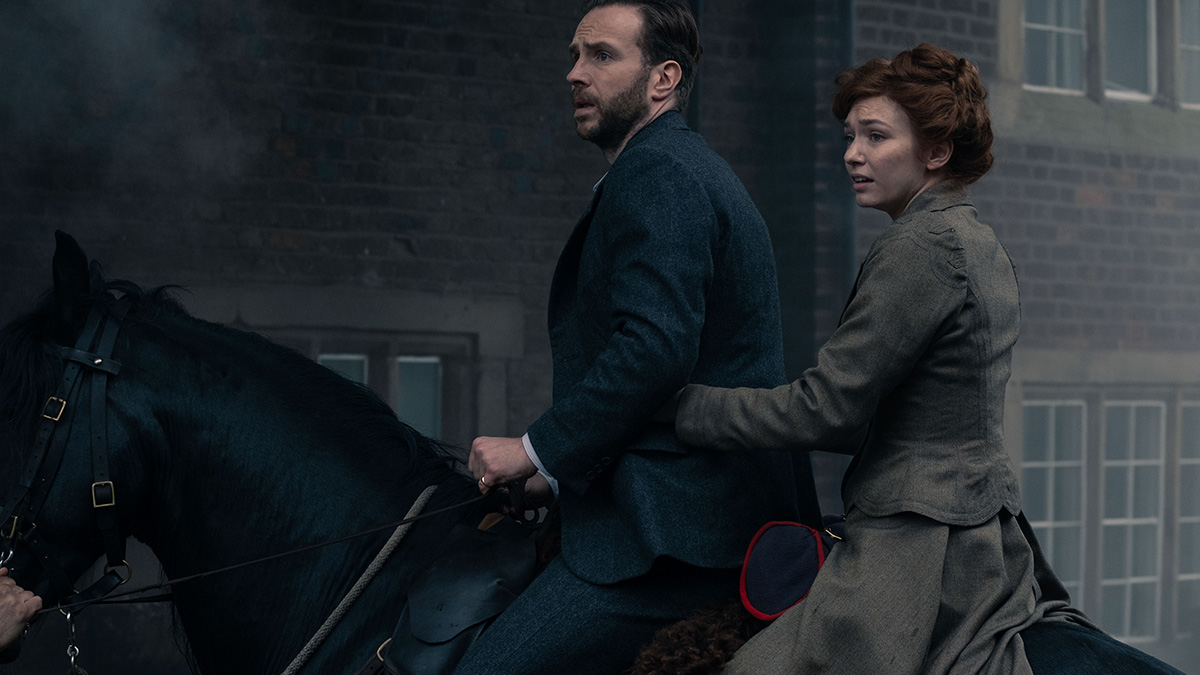 Rafe Spall and Eleanor Tomlinson in The War Of The Worlds on BBC One