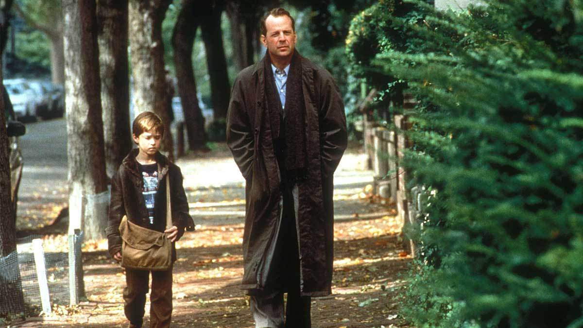 Haley Joel Osment and Bruce Willis in The Sixth Sense