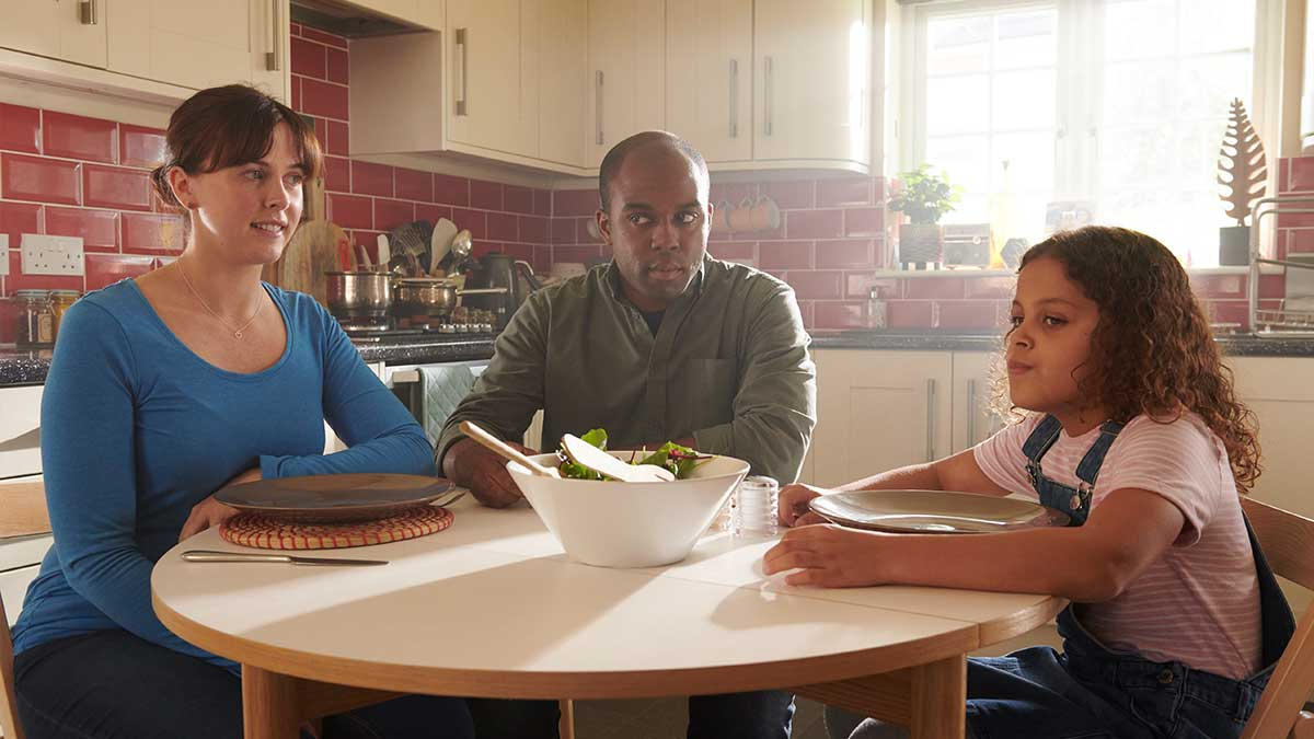 Alexandra Roach, Ken Nwosu and Daisy Boo Bradford in Sticks And Stones