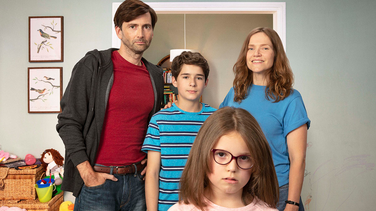 David Tennant, Edan Hayhurst, Miley Locke and Jessica Hynes in There She Goes