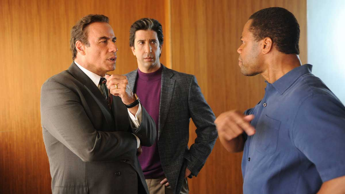 John Travolta, David Schwimmer and Cuba Gooding Jr in The People v. O. J. Simpson: American Crime Story