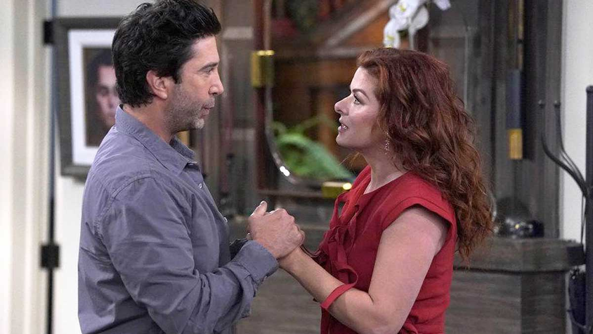 David Schwimmer and Debra Messing in Will & Grace