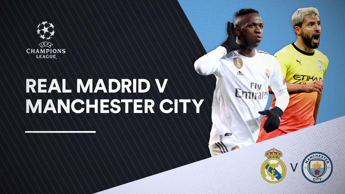 Real Madrid versus Manchester City in the UEFA Champions League