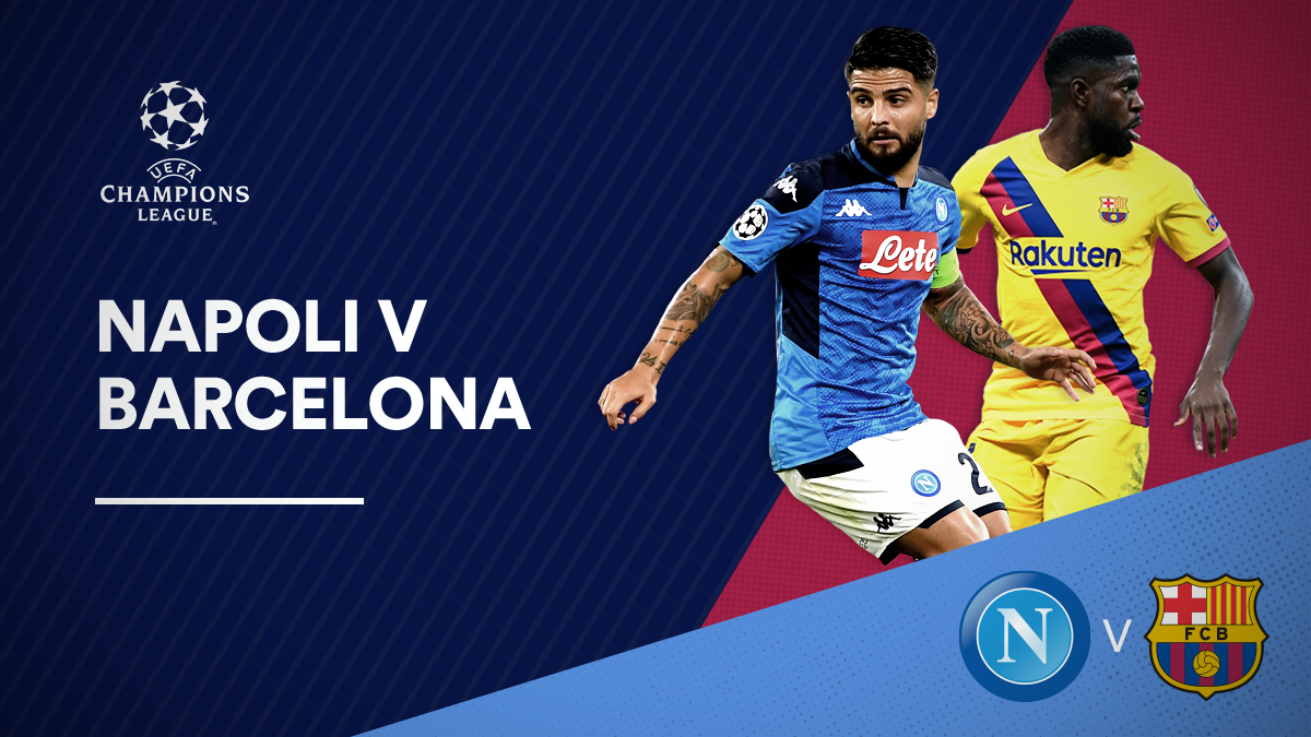 Napoli versus Barcelona in the UEFA Champions League
