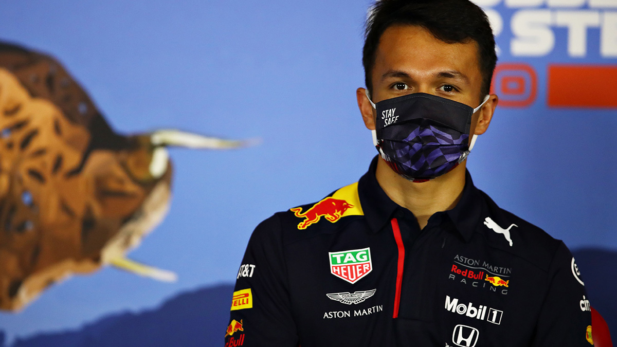 Red Bull driver Alex Albon