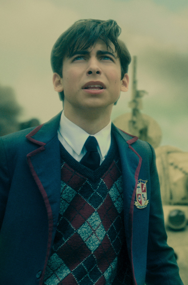 Aidan Gallgher as Number Five in The Umbrella Academy season 2