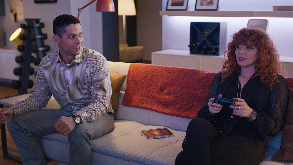 Natasha Lyonne and Charlie Barnett in Russian Doll