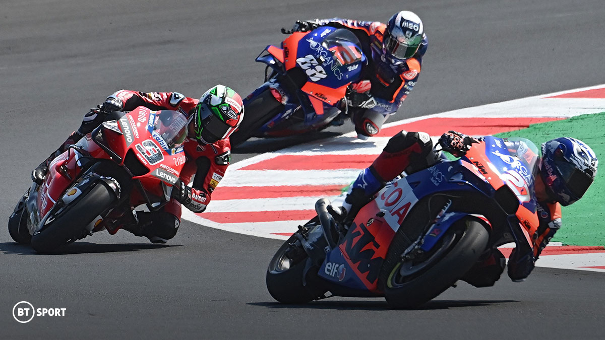 Riders competing during the 2020 MotoGP season