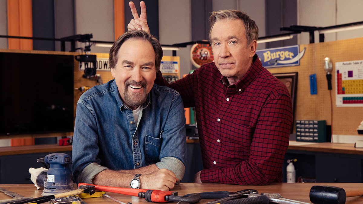 Richard Karn and Tim Allen in Assembly Required on Sky HISTORY