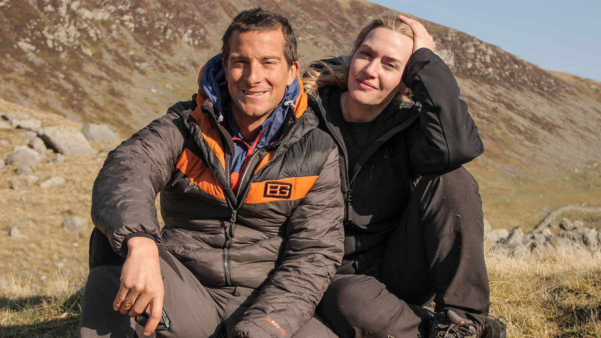 Bear Grylls and actor Kate Winslet in Running Wild