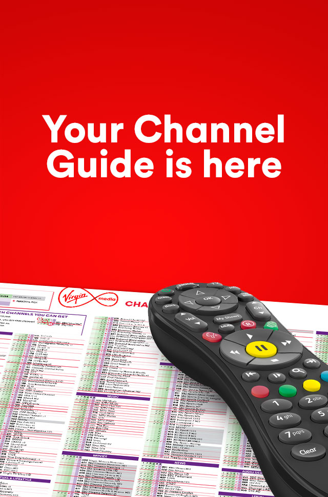 Virgin TV channel guide