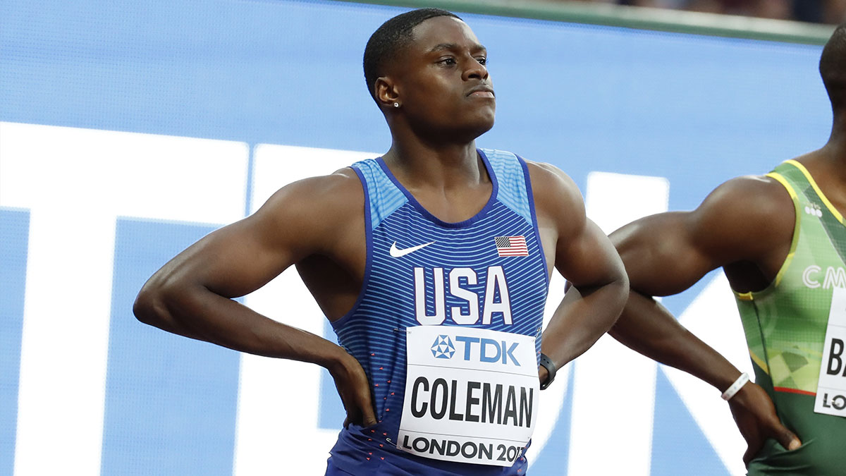 USA sprinter Christian Coleman