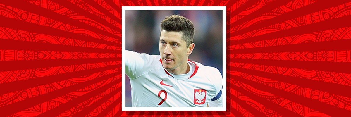 Robert Lewandowski playing for Poland