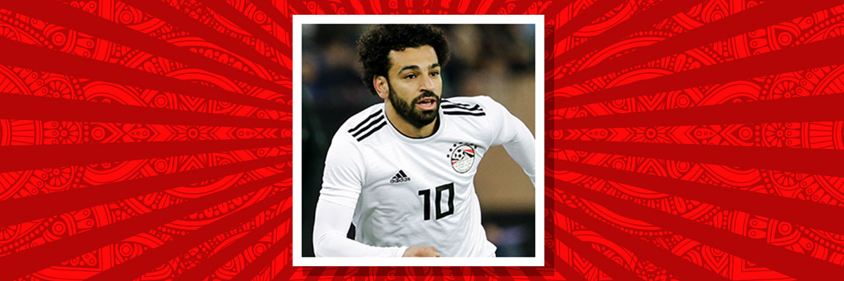 Mohamed Salah playing for Egypt