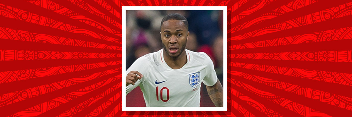 Raheem Sterling playing for England