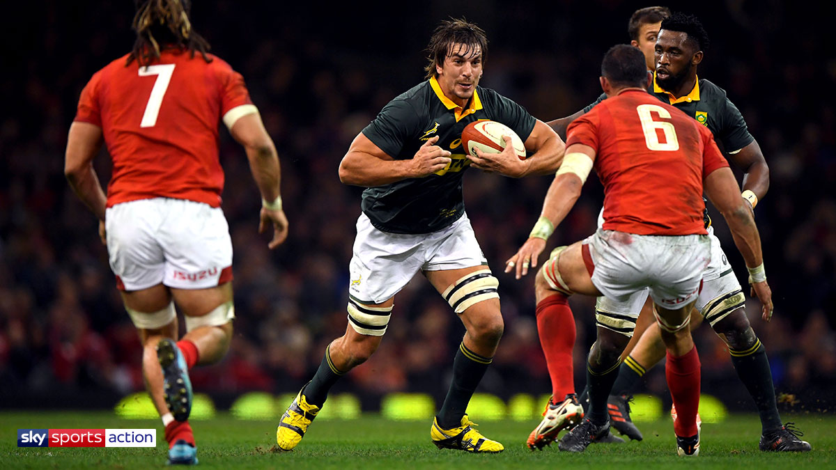 Eben Etzebeth playing rugby for South Africa