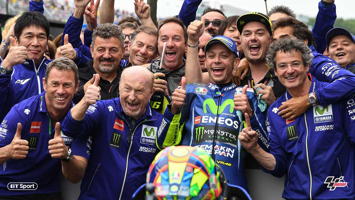 Valentino Rossi after winning the 2017 Dutch MotoGP