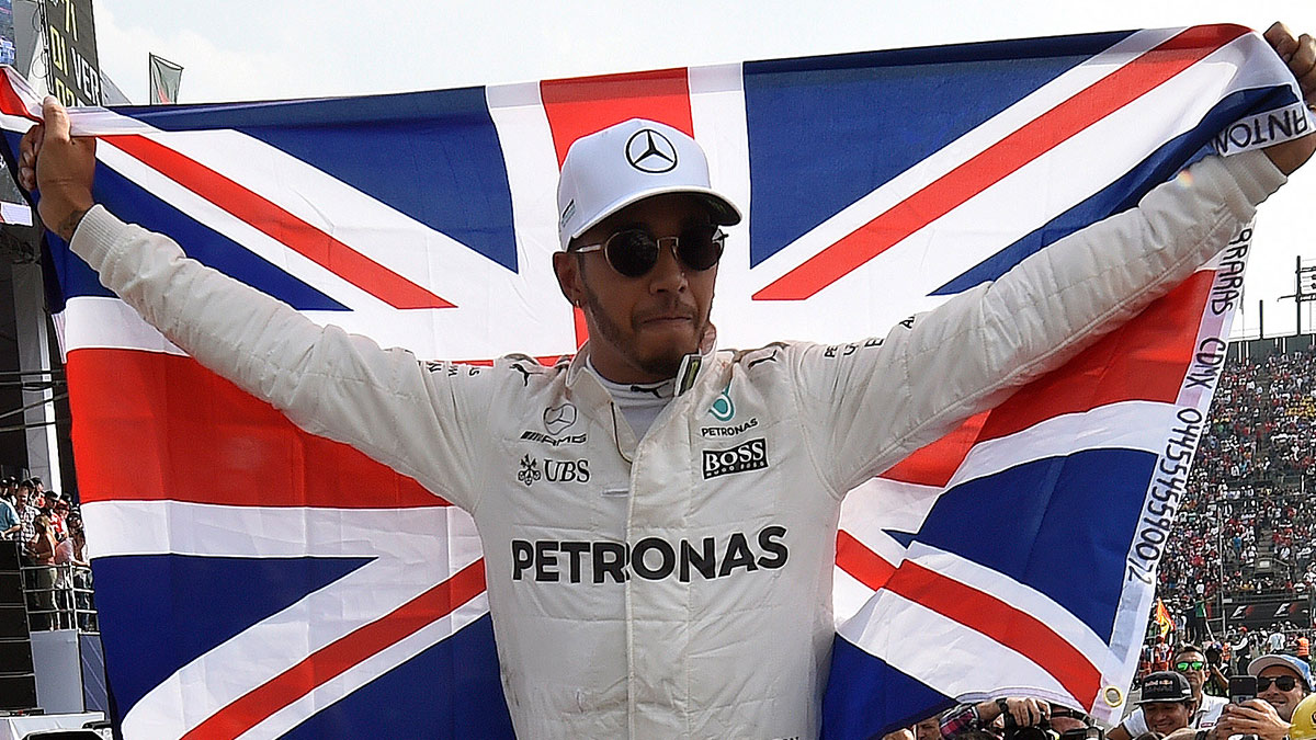 Lewis Hamilton after winning the 2017 British Grand Prix
