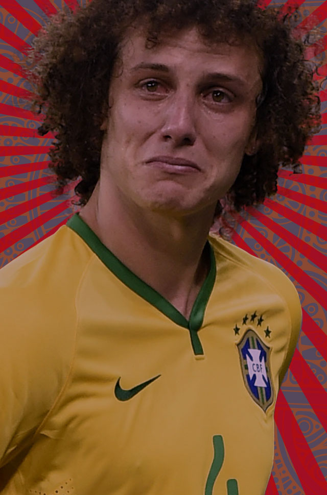David Luiz crying