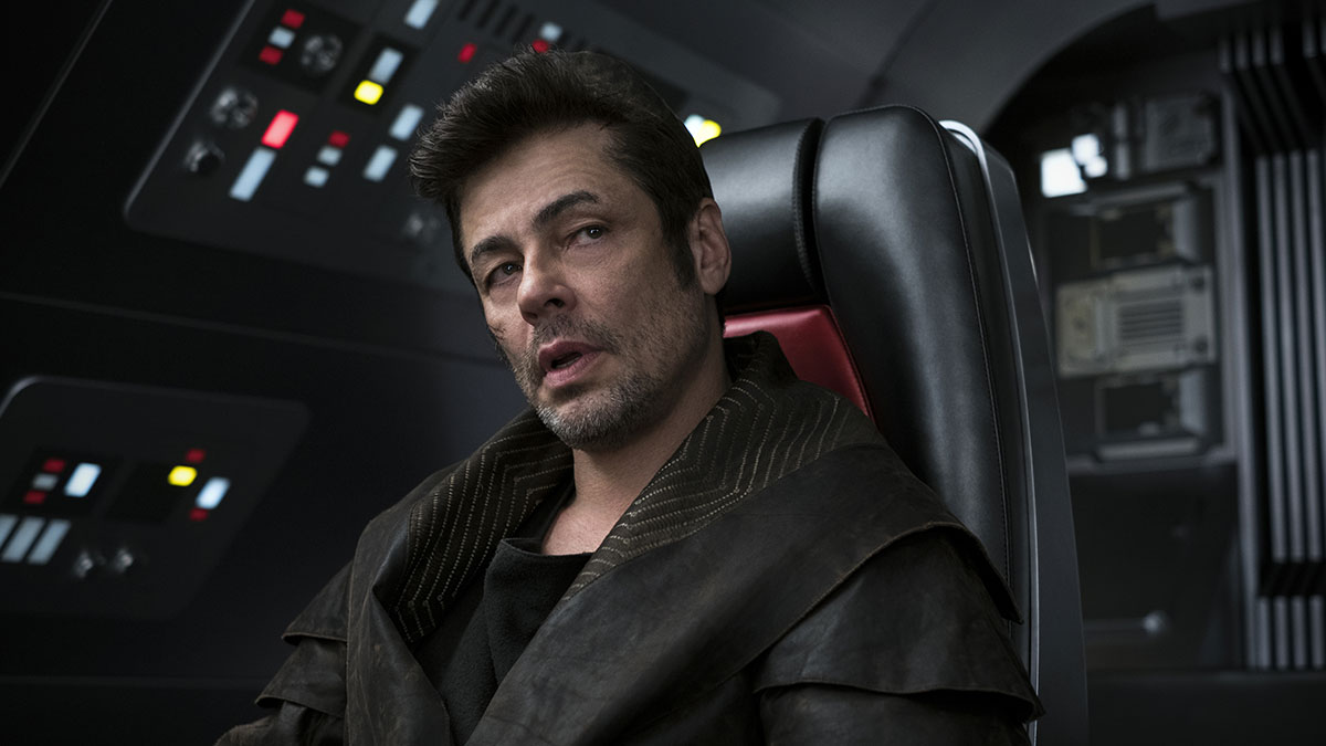 Benicio del Toro in Star Wars: The Last Jedi