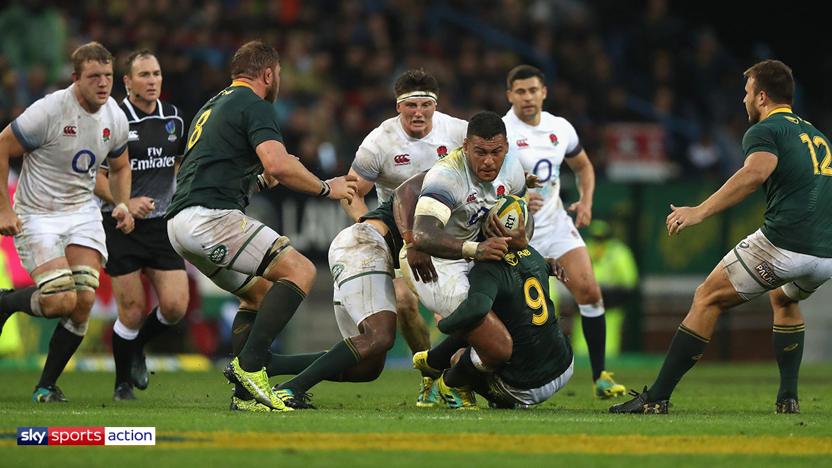 South Africa playing England in their rugby union Test series held in summer 2018