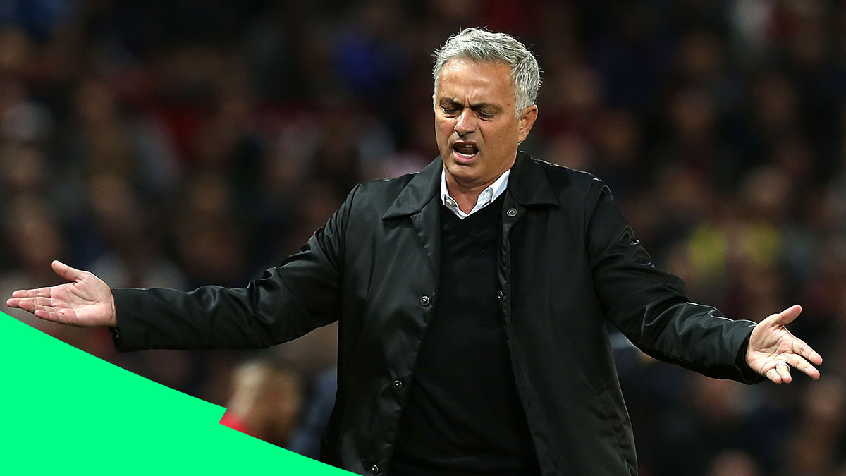 José frustrated during loss to Tottenham at Old Trafford