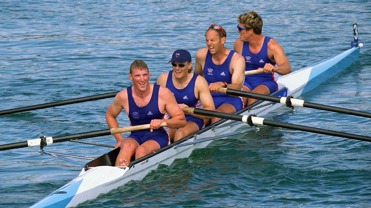 Olympic Gold medal winning Great Britain coxless four team