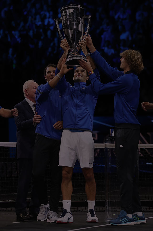 Team Europe winning the 2017 Laver Cup