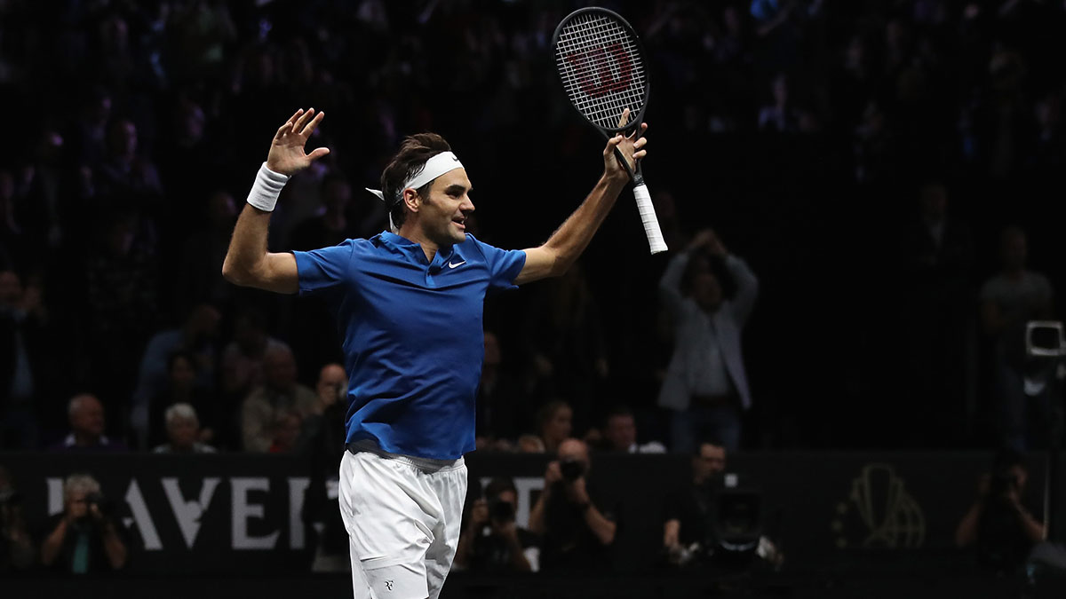 Roger Federer in the 2017 Laver Cup