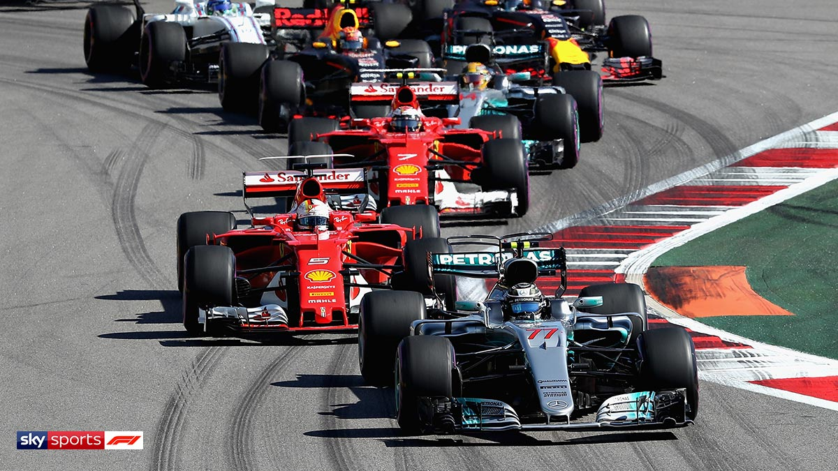 Mercedes and Ferrari during the Russian GP