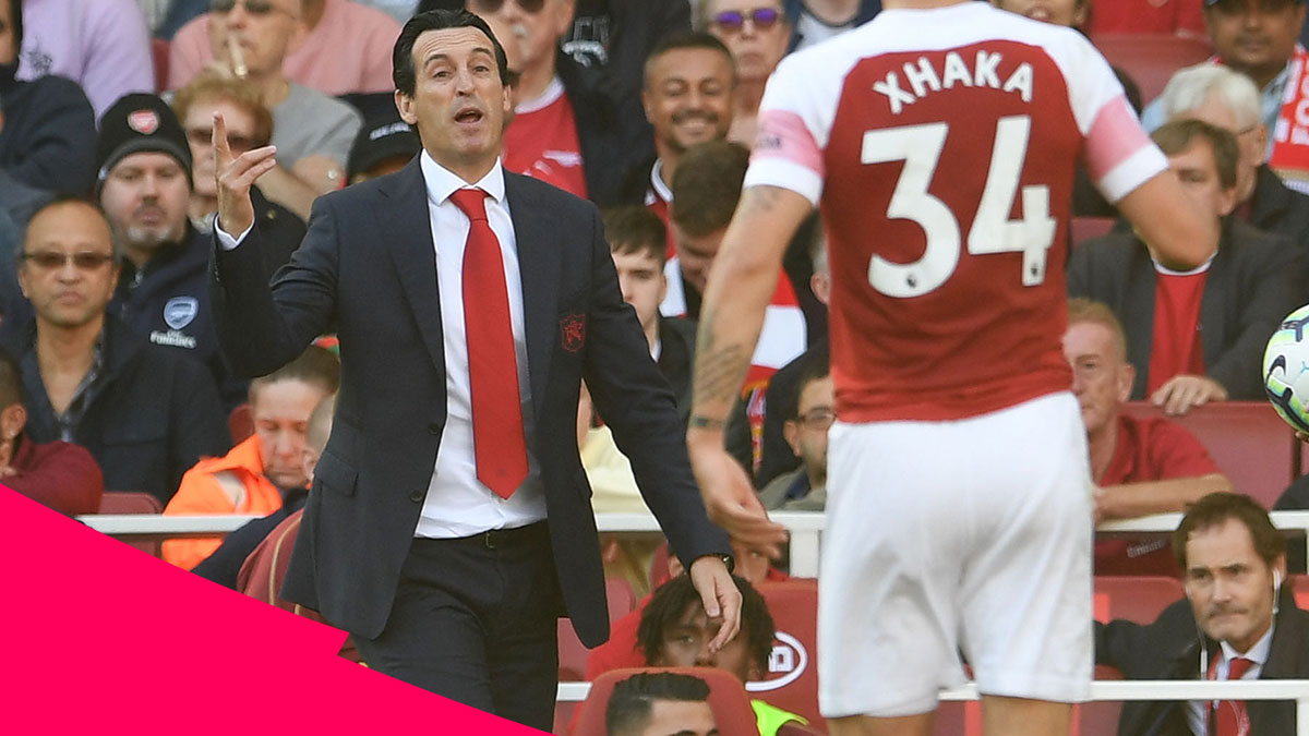Arsenal manager Unai Emery during his team's 2-0 win over Watford in the Premier League