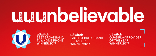 uSwitch Fastest broadband provider winner 2018
