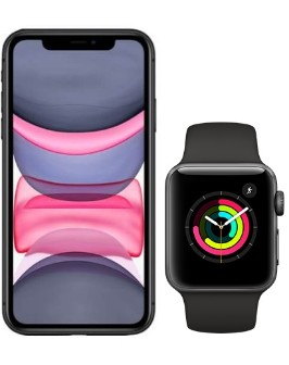 iPhone 11 Black and Watch