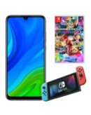 Huawei P smart 2020 and Nintendo Switch with Mario Kart 8